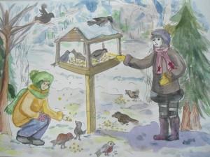 Кормление-Птиц